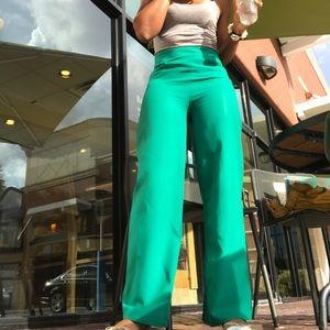 Summer Green High Waisted Pants